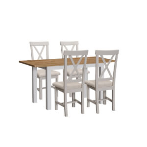 Padstow 1.2m Extending 4 Seater Dining Set - Grey