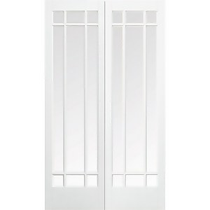 Manhattan - Glazed White - Primed Internal Door - 1981 x 1168 x 40mm