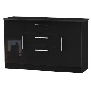Kensington 2 Door 3 Drawer Sideboard - Black