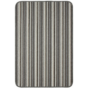Java washable stripe mat -Silver