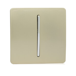 Trendi Switch 1 Gang Doorbell in Screwless Gold