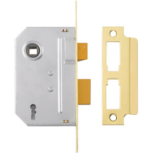 Yale PM246 2 Lever Sashlock 76mm - Brass