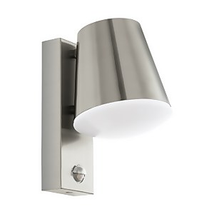 Eglo Caldiero Outdoor Light With PIR - Stainless Steel