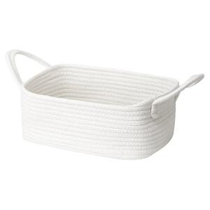 Cotton Rope Storage Basket  - White