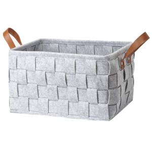 Small Felt Storage Basket - Grey