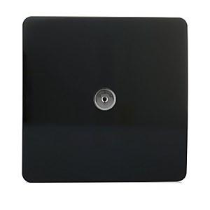 Trendi Switch TV Co-axial Socket in Screwless Black