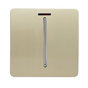 Trendi Switch 20 Amp Neon Insert Heavy Duty Switch in Screwless Gold