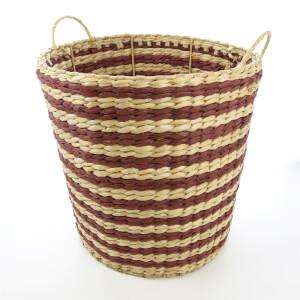 Rush Grass Basket - Rust