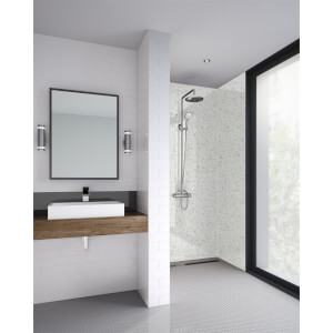 Wetwall Galaxy White - 1200mm - Square Edge - Laminate