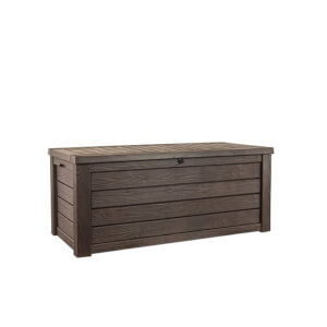 Keter Westwood Outdoor Plastic Storage Box Brown 570L