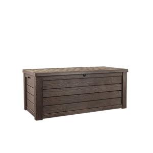 Keter Westwood Outdoor Plastic Garden Storage Box - 570L - Brown
