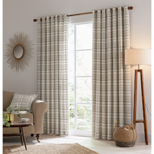 Helena Springfield Harriet Lined Curtains 66 x 72 - Taupe