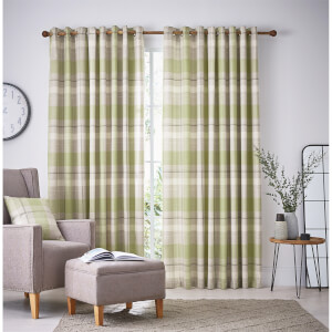 Helena Springfield Nora Lined Curtains 90 x 72 - Willow