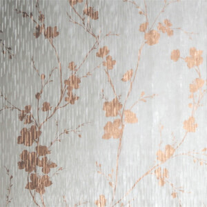Sublime Theia Blossom Mist & Rose Gold Wallpaper