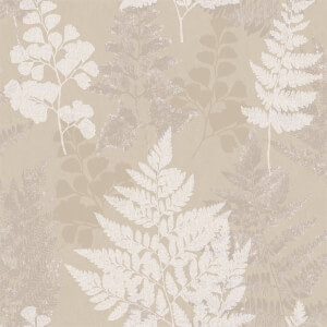 Holden Decor Bramble Leaf Smooth Taupe Wallpaper