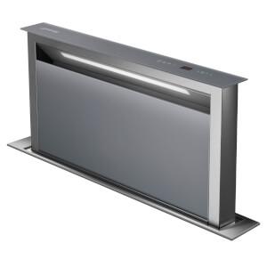 Smeg KDD90VXSE 90cm Island Downdraft Hood - Stainless Steel & Silver Glass
