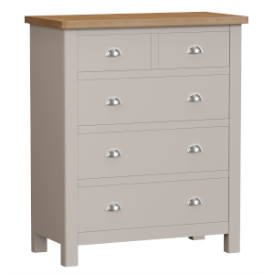 Padstow 2 Over 3 Chest of Drawers - Truffle