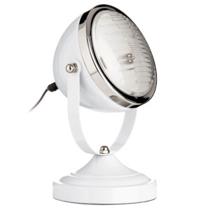 Spot White and Chrome Table Lamp