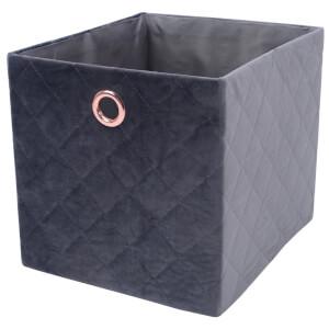 Premium Cube Quilted Velvet Insert - Grey