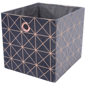 Premium Cube Velvet Insert - Grey & Rose Gold
