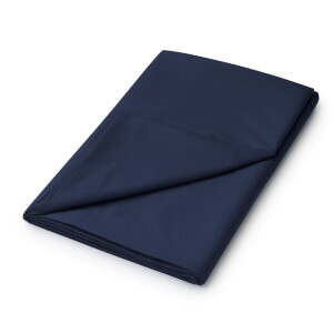 Helena Springfield Plain Dye Flat Sheet - Single - Navy