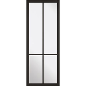 Liberty - Glazed - Black Internal Door - 1981 x 762 x 35mm