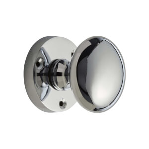 Homebuild Victorian Mortice Knob Set - Polished Chrome