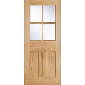 Cottage - Stable - 4 Lite - Glazed Exterior Door - Oak - 1981 x 762 x 44