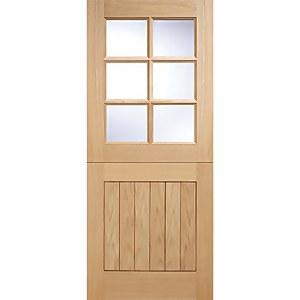Cottage - Stable - 6 Lite- Glazed Exterior Door - Oak - 2032 x 813 x 44
