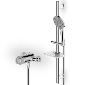 Glenoe Therm Concentric Mixer Shower - Chrome