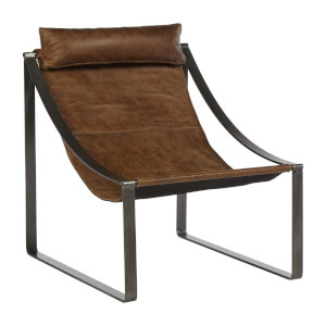Hoxton Leather Chair - Light Brown