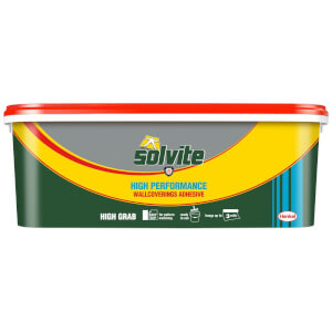 Solvite High Performance Wallpaper Adhesive -  3 Roll Ready Mix Bucket