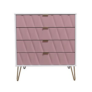 Ice 4 Drawer Chest - Pink