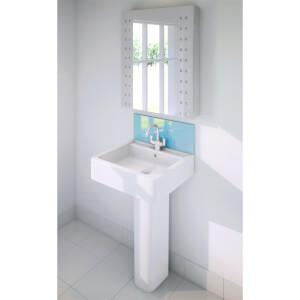 Wetwall Upstand - 600 x 200mm - Essence - Glass