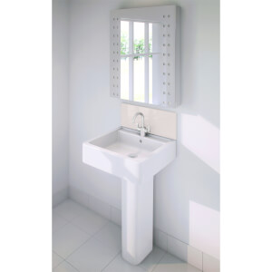 Wetwall Upstand - 900 x 200mm - Pale Pink - Glass
