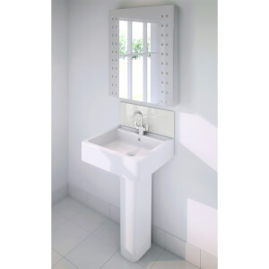 Wetwall Upstand - 900 x 200mm - White Pearl - Glass