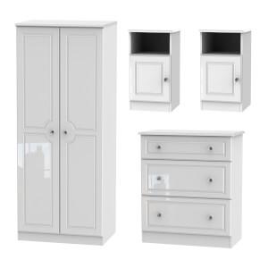 Stonehaven 4 Piece Bedroom Furniture Set - White