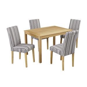 Oakridge 4 Seater Dining Set - Lorenzo Dining Chairs