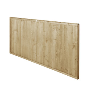 6ft x 3ft (1.83m x 0.91m) Pressure Treated Closeboard Fence Panel - Pack of 4