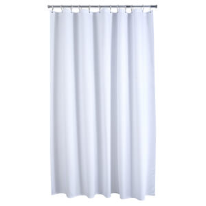 Waffle White Shower Curtain