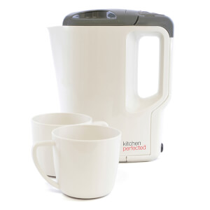 Travel Kettle with Cups Cream Grey.