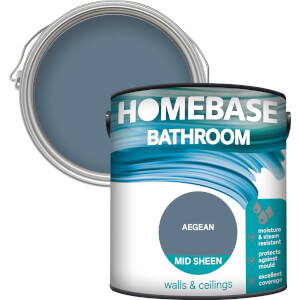 Homebase Bathroom Mid Sheen Paint - Aegean 2.5L