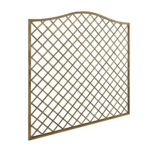 6ft x 6ft (1.8m x 1.8m) Pressure Treated Decorative Europa Hamburg Garden Screen - Pack of 3
