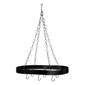 Oval Ceiling Rack - Matt Black