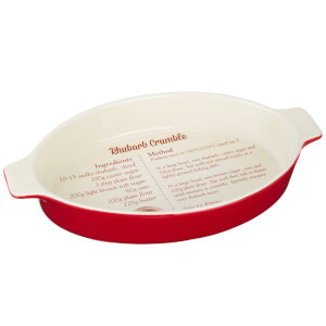From Scratch Red Stoneware Oval Baking Dish