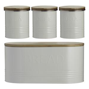 Typhoon Essentials 4 Piece Jar Set - Cream