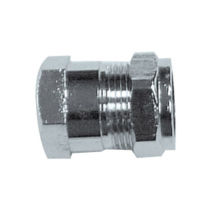 Compression Female Coupler Chrome 15mm x 0.5in