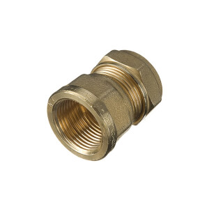 Compression Female Coupler 22mm x 0.5in