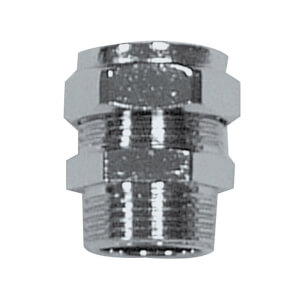 Compression Male Coupler Chrome 15mm x 0.5in