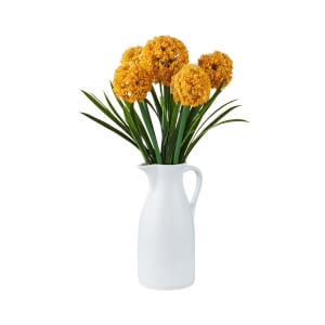 Billy Button Vase with Yellow Flowers